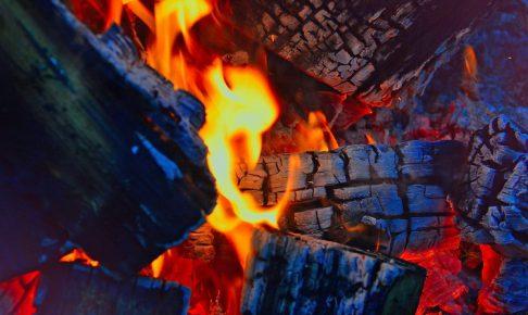 火が着いた炭火